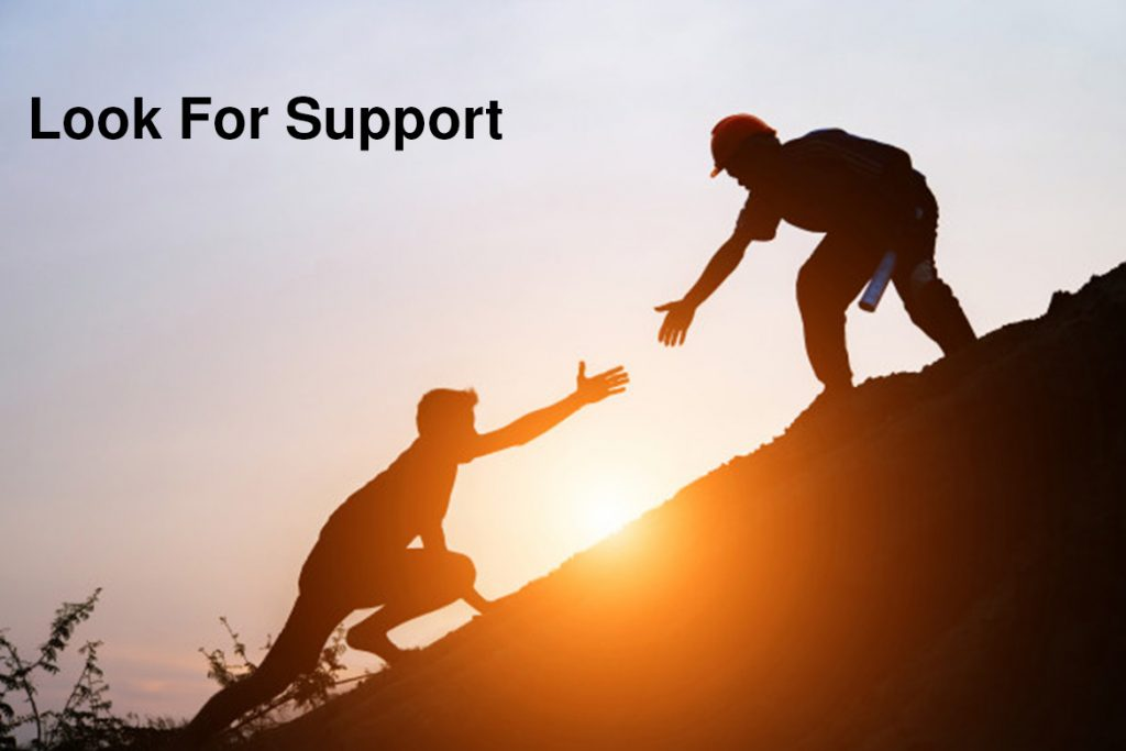 look for support