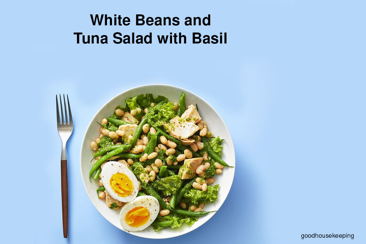 White Beans And Tuna Salad With Lettuce