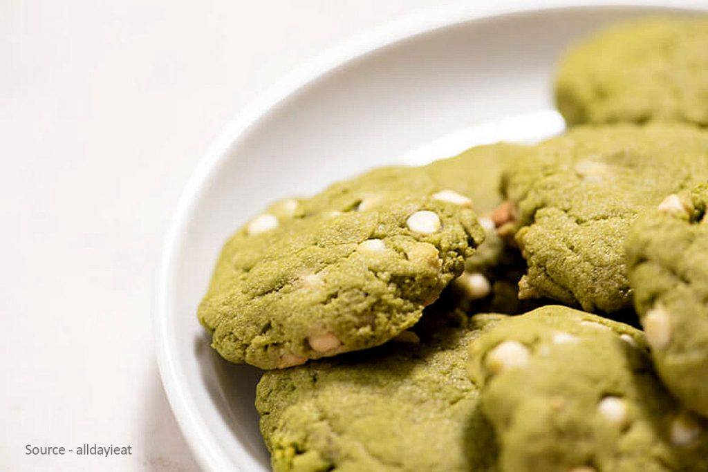 Healthy And Layered Green Tea Cookies