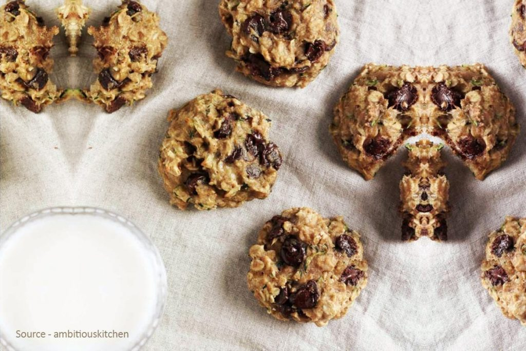Healthy Zucchini Cookies With Chocolate Chips