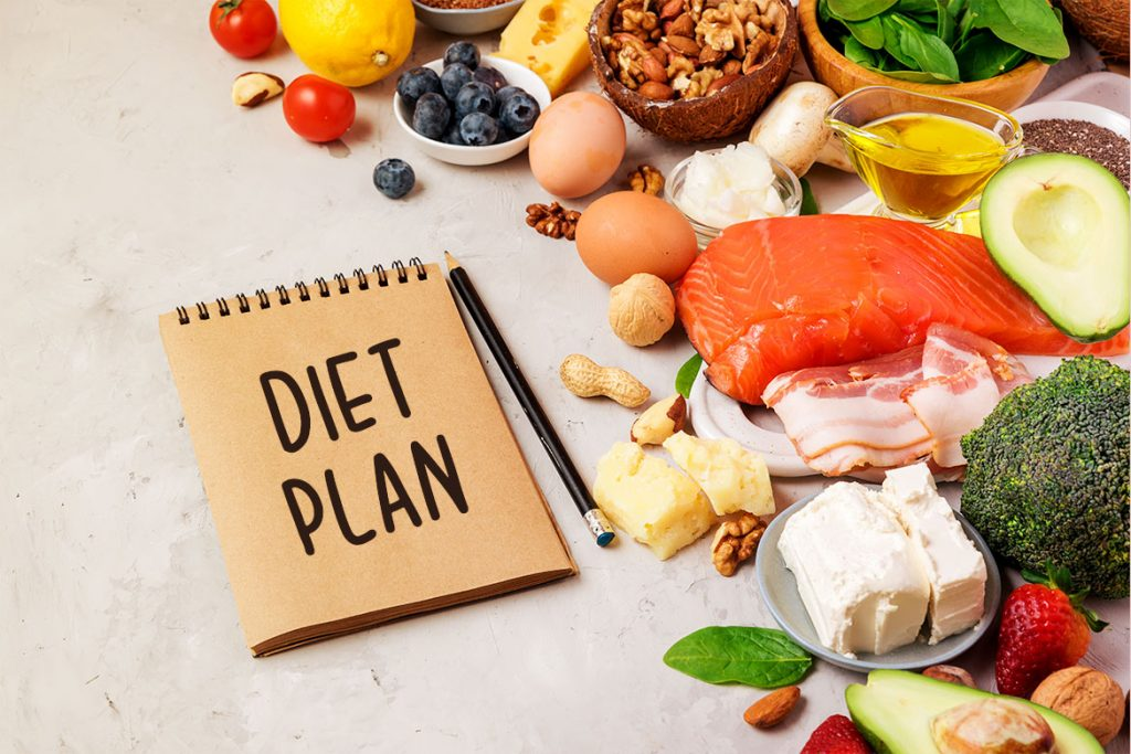 diet plan with different nutrient specification