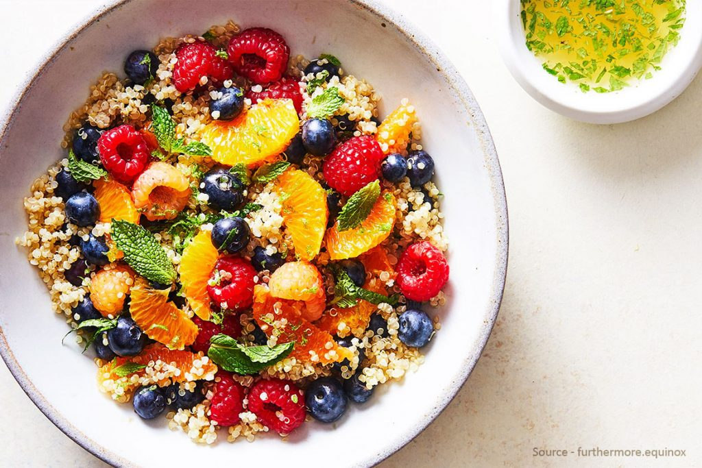 Fruity Salad With Quinoa