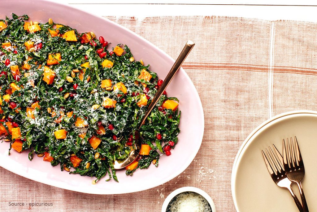 Exclusive Kale And Squash Salad